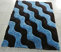 Shag Area Rug Design 3-D 802 (Chocolate, 8 Feet X 10 Feet)