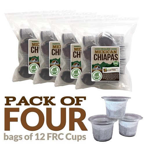 48 Ct. Organic Mexican Chiapas Coffee Frc Cups For Keurig K-Cup Brewers, Fresh Roasted Coffee Llc.