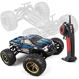 AMOSTING 2.4GHz 2WD Monster RC Truck, 1/12 Scale - Blue