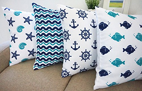 51enxQ766yL The Best Nautical Pillows and Throw Pillows