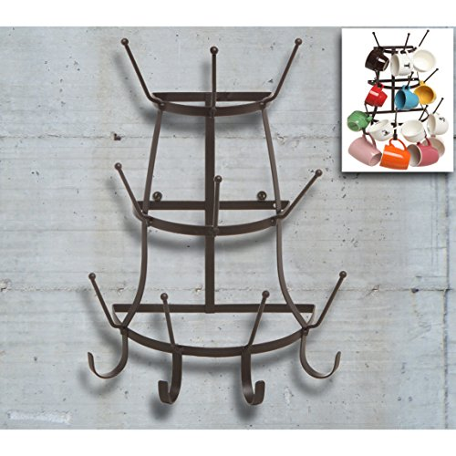 wall mount mug rack holder cup o coffee hook hanger