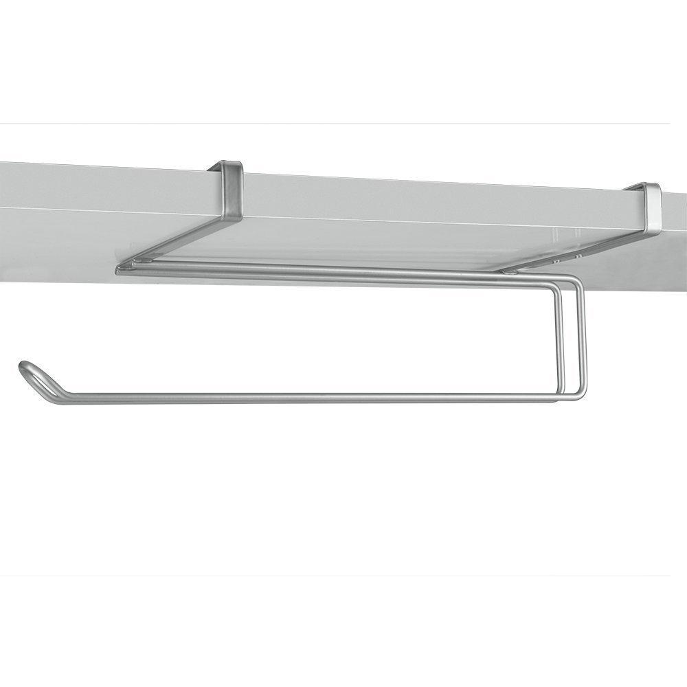 Under Shelf Kitchen Roll Holder: Chrome Kitchen Under Shelf / Worktop Kitchen Roll Storage