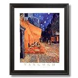 Vincent Van Gogh French Cafe Terrace Picture Black Framed Art Print