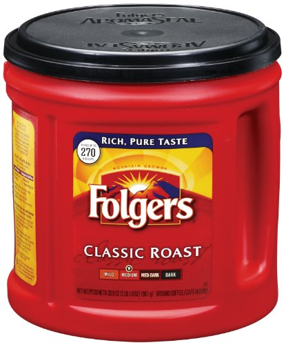 Folgers Classic Roast Ground Coffee 0025500003672