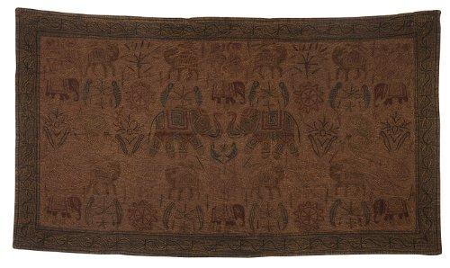 Imagen 3 de Algodón bordado hecho a mano tapiz Tapiz Decor Tamaño 33 x 60 pulgadas