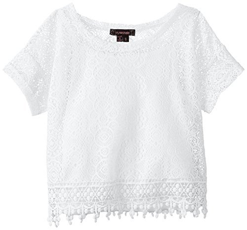 My Michelle Big Girls' Crochet Short Sleeve Top