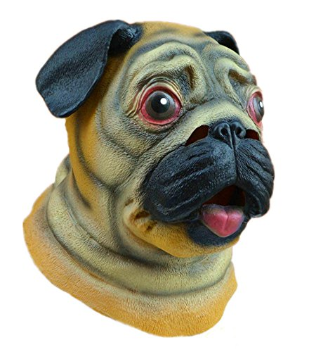 Gmasking Latex Adult Dog Head Mask Costume