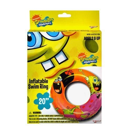 "Spongebob 20"" Swim Ring Boxed - 1"