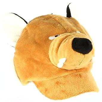 Winter Faux Fur Fox Animal Fuzzy Plush Cadet Cap Hat