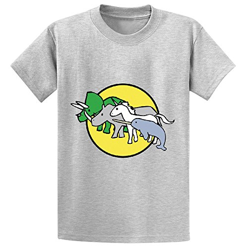Horned Warrior Friends Unicorn Narwhal Triceratops Rhino Boys' Customized Tee