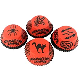 CK Products Halloween Baking Cup, Orange/Black, Pack of 500