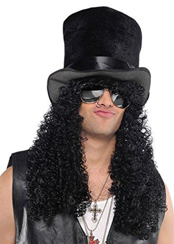 Mens  (Black Headbanger Wig)