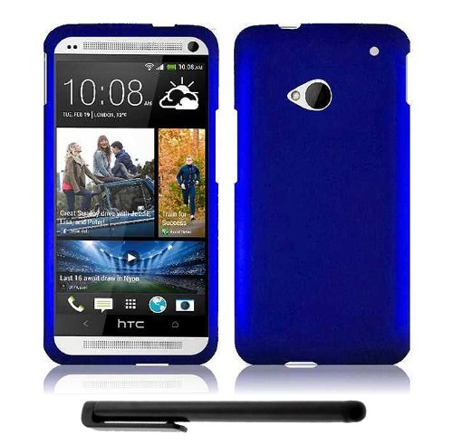 HTC One (M7) Snap-On Protector Hard Cover Case + Bonus Long Arch 5.5