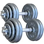 TurnerMAX Cast Iron Dumbbell set Bar...