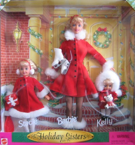 Holiday-Sisters-1999-Barbie-Kelly-Stacie-Gift-Set-by-Mattel