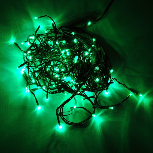 Ledwholesalers 16.4 Feet 150 Led Icicle Christmas Holiday Lights With Green Wire, Green,2064Gn