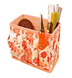 Franterd Cosmetic Storage Makeup Box Bag Foldable Stationary Container