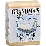 Grandma'S Lye Soap Bar 7 Oz White