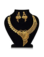 Gold Plated Ethnic Heavy Necklace Set for Women
