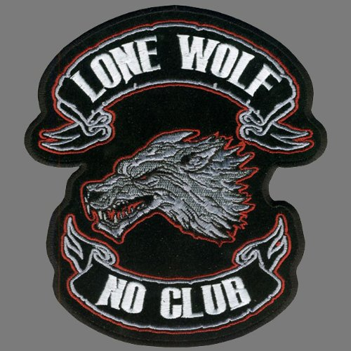 Hot Leathers Lone Wolf Embroidered Patch (15