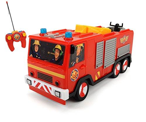 Dickie-Toys-203099612-RC-Feuerwehrmann-Sam-Jupiter-funkferngesteuertes-Feuerwehrauto-22-cm