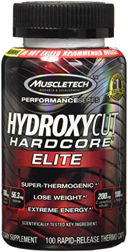 Hydroxycut Hardcore Elite , 100ct, 100mg Coleus Forskohlii, 56.3mg Yohimbe, 200mg Green Coffee, 100mg L-Theanin ,200mg C.canephora Robusta (Packaging May Vary)