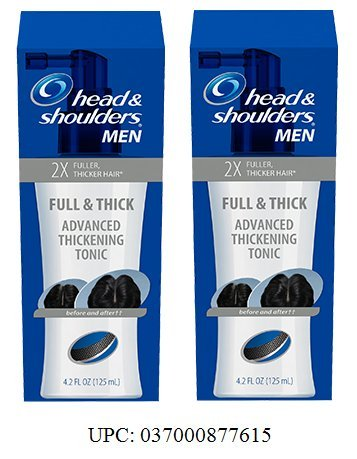 Head & Shoulders, Full & Thick Advanced Thickening Tonic For Men. 2X Fuller, Thicker Hair, 4.2 Oz. Pack of 2. (Head And Shoulders Thick And Full compare prices)
