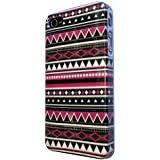 iphone 4 4S Vintage Aztec Tribal Designer High Gloss Coque Case plastique Retour Coque-Ref1