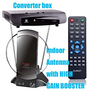 Combo 1: Promotion,sunkey Converter Box+indoor Antenna, Package Deal