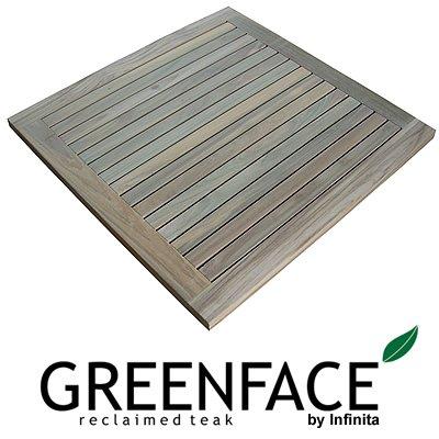 Infinita Corporation Greenface Square Teak Floor And Shower Mat In Natural