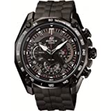 Casio Men's Edifice Chronograph Black Rubber Strap EF-550PB-1AVDF