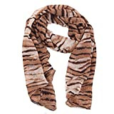 51eoER HisL. SL160  HDE Animal Print Long Silk Wrap Scarf