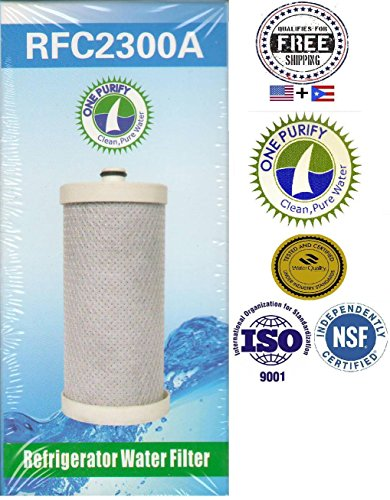 1 Pack - Onepurify Water Filter To Replace Brita, Frigidaire, Electrolux, Pure Source Plus, Kenmore, Sears, Frrf-100, Wfb, Wf1Cb, Wfcb, Wfcb12, Wfcb18, Wfcb20, Swfb, Swf1Cb, Swfcb, Wf284, 218710901, 218710902, 218717805, 218732306, 218904501, 218904602, 2 front-104290