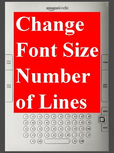 """Kindle: FONT SIZE"" How to change ""Character Font Size"" & ""Number of Lines"" on Amazon eBook Reader Kindle. - TKP 0043 -"