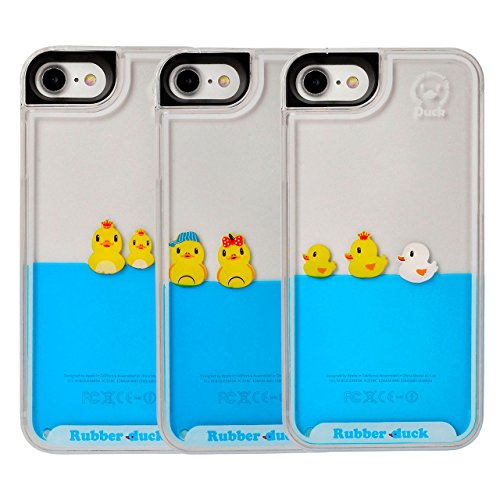 Yoption-Liquid-Case-for-iPhone-7-47-Clear-Cute-Creative-Design-Liquid-Floating-Rubber-Duck-Hard-Case-Cover-for-iPhone-7