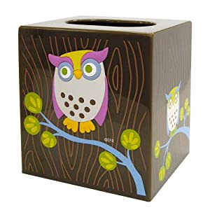 Allure Home Creations Awesome Owls Printed Plastic Tissue Box