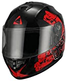 Graffiti-Cross-Full-Face-Glossy-Street-Bike-Motorcycle-Helmet-by-Triangle-DOT