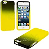 myLife (TM) Yellow + Black Two Tone Series (2 Piece Snap On) Hardshell Plates Case for the iPhone 5/5S (5G) 5th... by myLife Brand Products