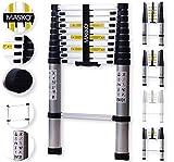 Masko® Teleskopleiter 3,20M ALU Leiter Aluleiter Stehleiter Anlegeleiter Mehrzweckleiter