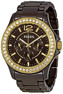 Fossil Women's CE1044 Riley Brown Dial Watch
