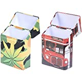Cicero Pack-it Cigarette Pack Holders Combo Pack Of Military Kit & London-Bus