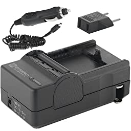 1 X Nikon D3100 Digital Camera Battery Charger (110/220v with Car & EU adapters) - Replacement Charger for Nikon MH-24 Charger