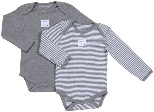 Burt's Bees Baby Unisex Baby 2 Pack Essentials L/S Bodysuits (Baby)-Heather - 0-3 Months