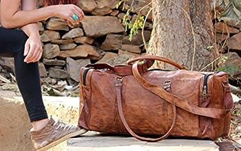 Mens Brown Leather Duffle Bag 2