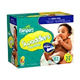 Pampers Swaddlers Dry Max Diapers, Size 2-3 152 Count ~ Pampers