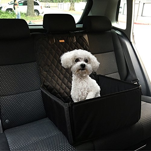 Car Seats Cover for Dogs or Any Pets, 3 in1, Booster Car Seat, Bucket Up or Down, Use for Front and Back Seats, Deluxe 900 Oxford, Quilted Fabric,Waterproof Protector for Car Seats (Size 45x45x58) (Pet Booster Car Seat compare prices)