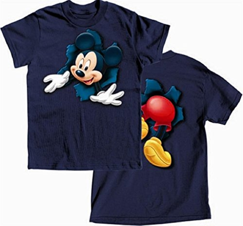Disney'S Boys T-Shirt Pop Out Mickey , M(8), Navy