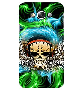 PrintDhaba Skull D-2942 Back Case Cover for SAMSUNG GALAXY A7 (Multi-Coloured)