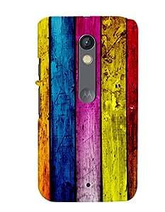 MakeMyCase Multicolor case For Motorola X PLAY