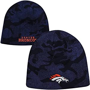 NFL Bronco hats : Denver Broncos Youth Shield Uncuffed Knit Hat - Navy Blue by My Sports Shop